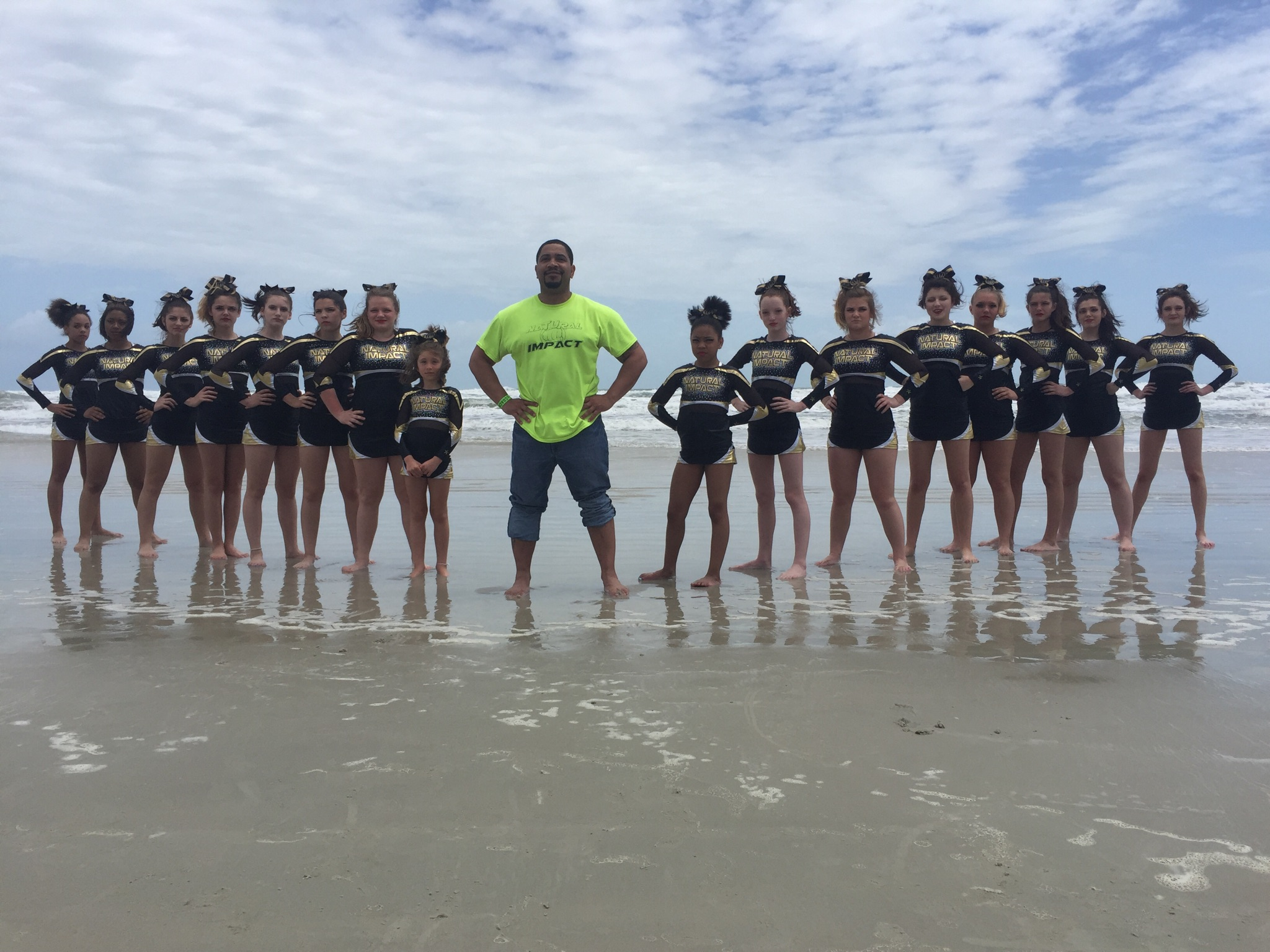Enjoying Some Down Time At The Beach After Cheer Competition